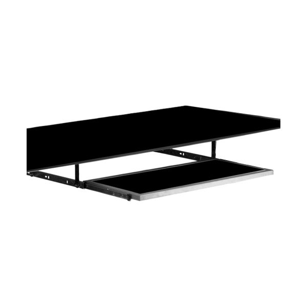 pitstop furniture black glass gt spoiler desk pullout keyboard tray - Keyboard Tray