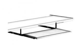 PitStop Furniture® - Clear Glass Pull-Out Keyboard Tray