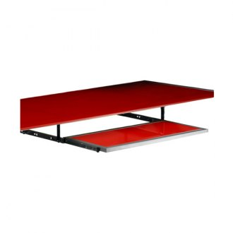 PitStop Furniture® - Red Glass Pull-Out Keyboard Tray