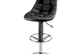 PitStop Furniture® - Pit Crew Series Black-on-Black Bar Chair