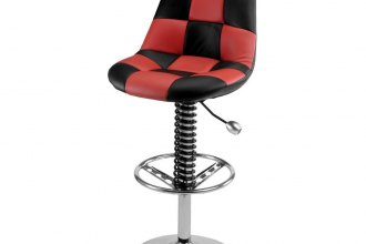 PitStop Furniture® - Pit Crew Series Black-on-Red Bar Chair