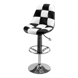 PitStop Furniture® - Pit Crew Black-on-White Bar Chair