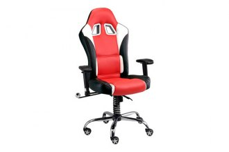 PitStop Furniture® - SE Series Red with Contrast Stitching Chair