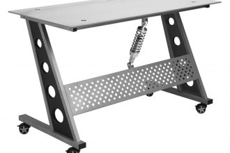 PitStop Furniture® - Compact Clear Glass Top Desk