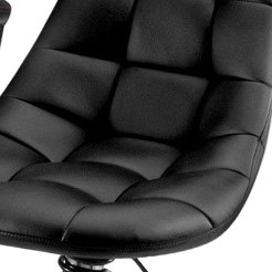 PitStop Furniture® - Pit Crew Series Black On Black Bar Chair