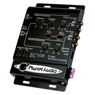 Planet Audio® - 2-Way Crossover with Remote Subwoofer Level Control