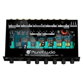 Planet Audio® - 5-Band Pre-Amp Equalizer with Remote Subwoofer Level Control