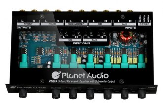 Planet Audio® - 5-Band Half DIN Parametric Equalizer
