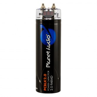 Planet Audio® - Capacitor with Red Digital Voltage Display