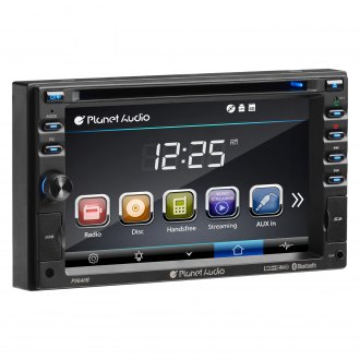 "Planet Audio® - Double DIN DVD/CD/AM/FM/MP3/WMA/MP4/AVI Receiver with 6.2"" Touchscreen Display, Built-In Bluetooth and AV Input"