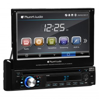 "Planet Audio® - Single DIN DVD/CD/AM/FM/MP3/WMA/MP4/AVI Receiver with Motorized 7"" Touchscreen Display and Built-In Bluetooth"