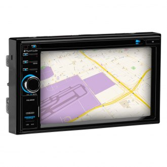 "Planet Audio® - Double DIN DVD/CD/AM/FM/MP3/WMA/MP4 Receiver with 6.2"" Touchscreen Display Built-In Bluetooth and GPS Navigation"