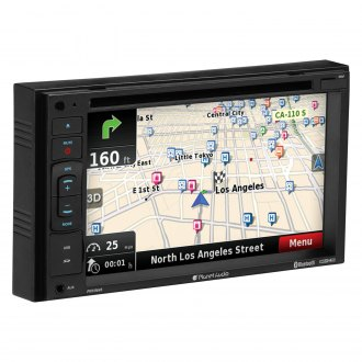 "Planet Audio® - Double DIN DVD/CD/AM/FM/MP3/WMA Receiver with 6.2"" Touchscreen Display Built-In Bluetooth and GPS Navigation"