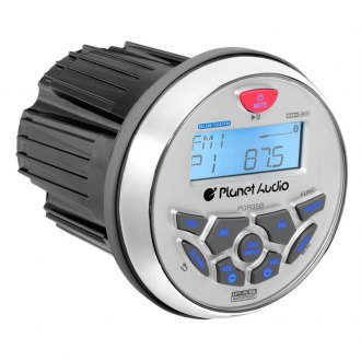 "Planet Audio® - Marine AM/FM Radio with 3.5"" LCD Bluetooth and Rear Aux Input"
