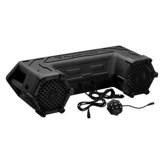 "Planet Audio® - 6-1/2"" Black ATV 450W Bluetooth Sound System with Built-in Amp and LED Light Bar"