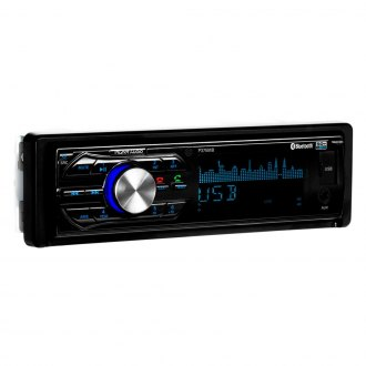 Planet Audio® - Single DIN AM/FM/MP3/WMA Front Aux In-Dash Stereo Receiver with Built-In Bluetooth