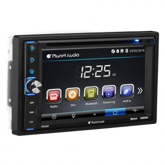 "Planet Audio® - Double DIN DVD/CD/AM/FM/MP3/WMA In-Dash Stereo Receiver with Built-In Bluetooth and 6.2"" Touchscreen Monitor"