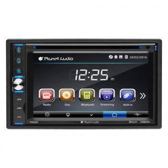 "Planet Audio® - Double DIN DVD/CD/AM/FM/MP3/WMA In-Dash Stereo Receiver with 6.2"" Touchscreen Monitor, Built-In Bluetooth and Rear View Camera"