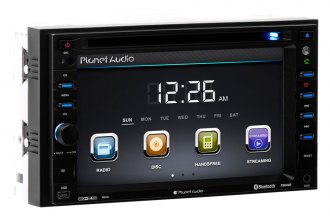 "Planet Audio® - Double DIN In-Dash AM/FM/CD/MP3/USB Car Stereo Receiver with Built-In Bluetooth and 6.2"" Monitor"