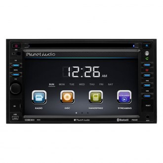 "Planet Audio® - Double DIN DVD/CDAM/FM/RDS/MP3/WMA In-Dash Stereo Receiver with Built-In Bluetooth, 6.2"" Touchscreen Monitor and Rear View Camera"