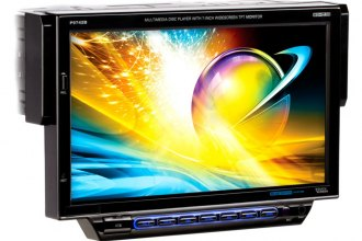 "Planet Audio® - Single DIN In-Dash DVD/CD/MP3/USB/SD Car Stereo Receiver with Built-In Bluetooth and Drop Down 7"" Touchscreen Monitor"