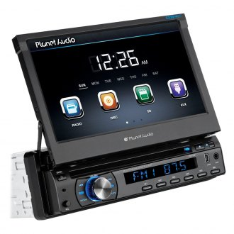 "Planet Audio® - Single DIN DVD/CD/MP3/USB/SD In-Dash Stereo Receiver with 7"" Touchscreen Monitor"