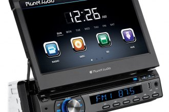 "Planet Audio® - In-Dash Single DIN DVD/CD/MP3/USB/SD Car Stereo Receiver with 7"" Touchscreen Monitor"