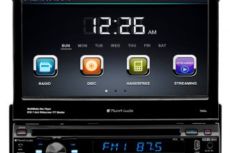 "Planet Audio® - Single DIN In-Dash DVD/CD/MP3/USB/SD Car Stereo Receiver with Built-In Bluetooth and 7"" Touchscreen Monitor"