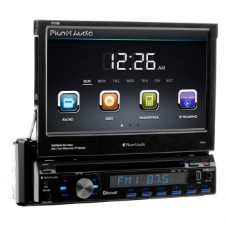 "Planet Audio® - Single DIN DVD/CD/AM/FM/MP3/WMA In-Dash Stereo Receiver with 7"" Touchscreen Monitor and Built-In Bluetooth"