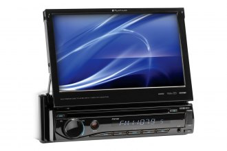 "Planet Audio® - Single DIN In-Dash DVD/MP3/CD/AM/FM/SD/USB Car Stereo Receiver with Motorized Flip-Out 7"" Monitor"