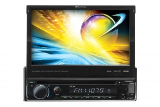 "Planet Audio® - In-Dash Single DIN DVD/MP3/CD/AM/FM/SD/USB Car Stereo Receiver with Motorized Flip-Out 7"" Monitor"