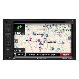 "Planet Audio® - Double DIN DVD/CD/AM/FM/MP3/WMA/MP4 Receiver with 6.2"" Touchscreen Display Built-In Bluetooth, GPS Navigation and Wireless License Plate Backup Camera"