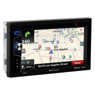 "Planet Audio® - Double DIN DVD/CD/AM/FM/MP3 In-Dash Stereo Receiver with 6.5"" LCD Touchscreen Monitor, Built-In Bluetooth and GPS Navigation"