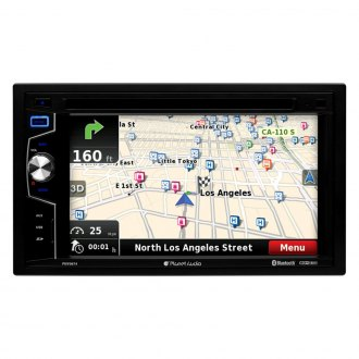 "Planet Audio® - Double DIN DVD/CD/AM/FM/MP3/WMA Receiver with 6.2"" TFT Touchscreen Monitor, Built-In Bluetooth, GPS Navigation and Flush Mount Backup Camera"