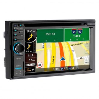 "Planet Audio® - Double DIN DVD/CD/AM/FM/MP3/WMA/MP4/AVI Receiver with 6.2"" Touchscreen Display Built-In Bluetooth, GPS Navigation and USB Charging Port"