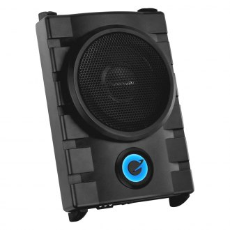 "Planet Audio® - 8"" Phantom Series Single Low Profile Sealed Powered 1300W Subwoofer Enclosure"
