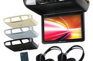 Planet Audio® - Flip Down TFT Monitor with Built-In DVD Player