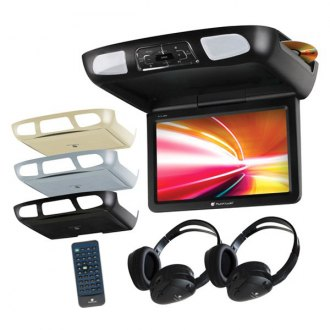 "Planet Audio® - 11.2"" Flip Down TFT Monitor with Built-In DVD Player and 3 Housing Options"