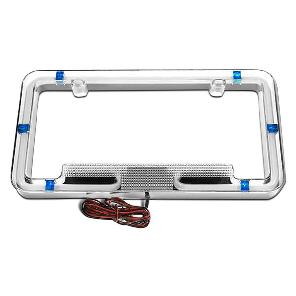 PlasmaGlow® - Blue Neon License Plate Frame
