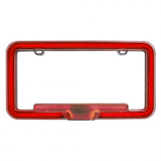 PlasmaGlow® - Red Neon License Plate Frame
