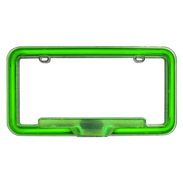 PlasmaGlow® - Green Neon License Plate Frame
