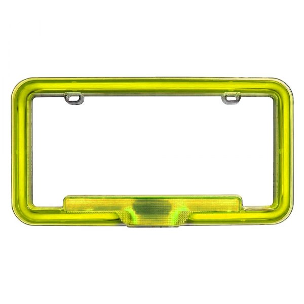 PlasmaGlow® - Yellow Neon License Plate Frame