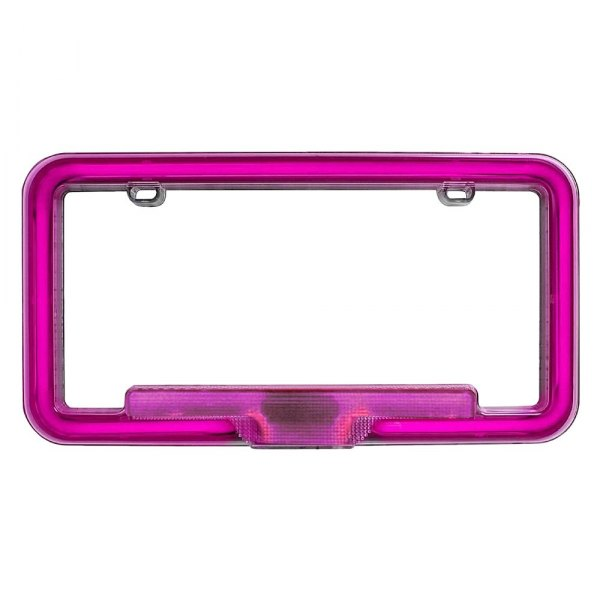 PlasmaGlow® - Pink Neon License Plate Frame