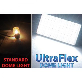 "PlasmaGlow® - 2.5"" x 1.5"" White UltraFlex LED Dome Light"