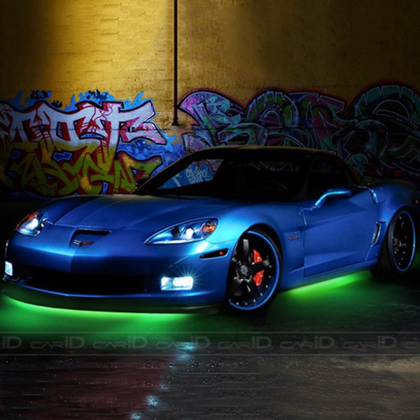PlasmaGlow® - Green Flexible LED Under Car Kit