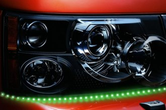 "PlasmaGlow® - 19"" Green Lightning Eyes LED Headlight Kit"