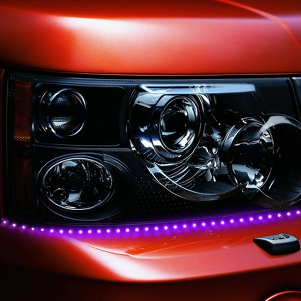 "PlasmaGlow® - 19"" Purple Lightning Eyes LED Headlight Kit"