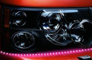 "PlasmaGlow® 10876 - Lightning Eyes LED Headlight Kit (19"", Pink)"