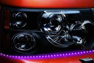 "PlasmaGlow® - 19"" Purple Breathing Lightning Eyes LED Headlight Kit"