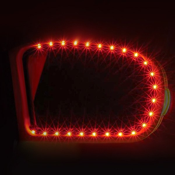PlasmaGlow® - AfterBurner LED Mirror Kit - Red